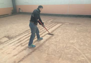 Changement du sable