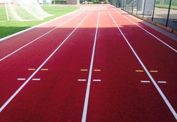 Traçages piste athlétisme sol synthetique