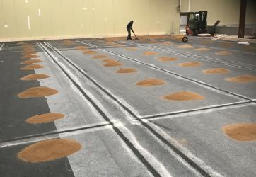Pose du mélange sableux