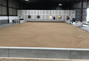 Répartition du mélange sableux
