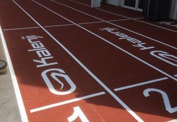 Traçage couloirs athlétisme