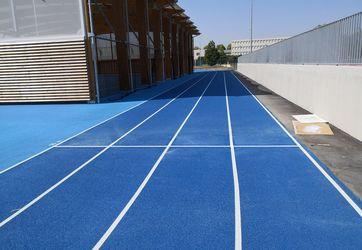 Traçages pistes athlétisme sur sols synthétiques