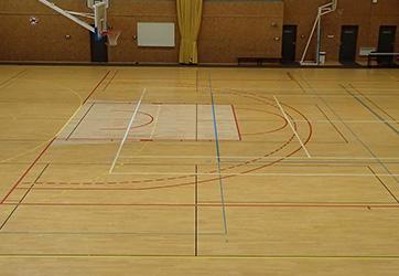Mise aux nouvelles normes Basket-ball sur parquet